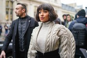 Kat Graham attends Atelier Jean-Paul Gaultier, during Paris Fashion Week - Haute Couture - Spring Summer 2019, on January 23, 2019 in Paris, France.