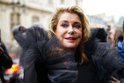 Catherine Deneuve attends Atelier Jean-Paul Gaultier, during Paris Fashion Week - Haute Couture - Spring Summer 2019, on January 23, 2019 in Paris, France.