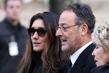 Jean Reno France National Tribute to Johnny Hallyday at La Madeleine Church in Paris