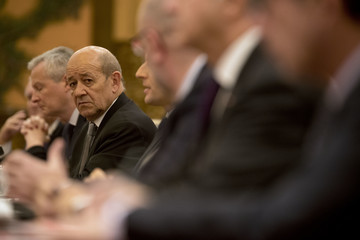 Jean-Yves Le Drian French President Emmanuel Macron Launches State Visit To China