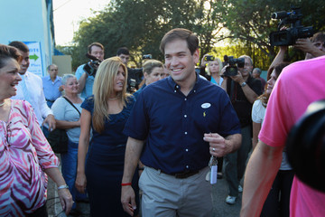 Jeanette Rubio Marco Rubio Casts His Vote On Election Day