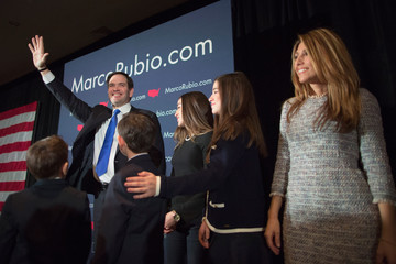 Jeanette Rubio Presidential Candidate Sen. Marco Rubio (R-FL) Holds NH Primary Night Party