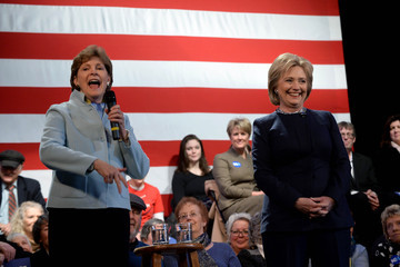 Jeanne Shaheen Hillary Clinton Holds Town Hall In New Hampshire