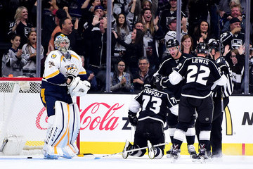 Jeff Carter Tyler Toffoli Nashville Predators v Los Angeles Kings