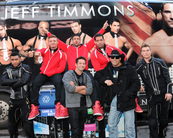 Jeff Timmons - Celebs Ambush Times Square