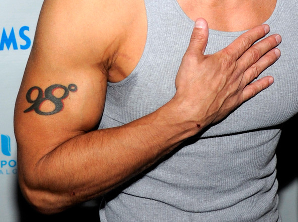 "Jeff Timmons Singer Jeff Timmons (tattoo detail) arrives at a pool party hosted by Sean ""Diddy"" Combs at the Palms Casino Resort September 4, 2011 in Las Vegas, Nevada."