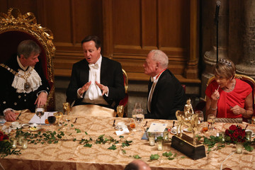 Jeffrey Mountevans Prime Minister David Cameron Attends the Lord Mayor's Banquet