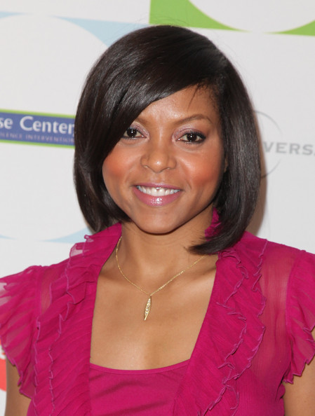 Black Hair Layered Bob. Taraji Henson#39;s Layered Bob