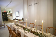 The dinner table is seen at Dinner to Celebrate Jenni Kaynes Tribeca Boutique with Amy Astley and Meredith Melling at 20 Harrison Street on November 15, 2017 in New York City.
