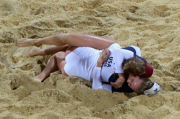 April Ross in Olympics Day 4 - Beach Volleyball - Zimbio