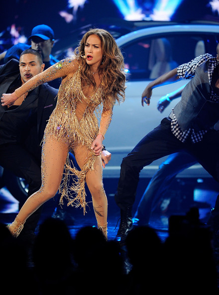 Jennifer Lopez Singer Jennifer Lopez performs onstage at the 2011 American Music Awards held at Nokia Theatre L.A. LIVE on November 20, 2011 in Los Angeles, California.