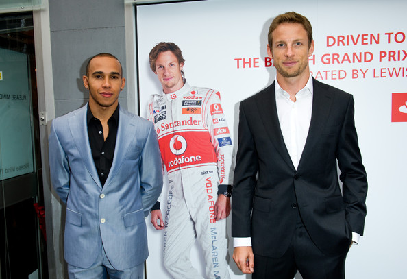 Jenson Button Jenson Button and Lewis Hamilton attends the launch of the 'Driven To Do Better' British Grand Prix exhibition curated by Lewis Hamilton and Jenson Button at Getty Images Gallery on June 28, 2011 in London, England.