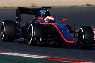 Jenson Button F1 Testing In Barcelona: Day 1