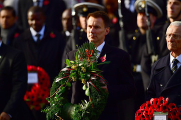 Jeremy Hunt Wreaths Are Laid At The Cenotaph On Remembrance Sunday
