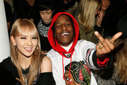 Singer CL 2ne1 and rapper Asap Rocky attend the Jeremy Scott fall 2013 fashion show during MADE fashion week at Milk Studios on February 13, 2013 in New York City.