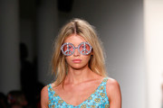 Model Stella Maxwell walks the runway at the Jeremy Scott fashion show during MADE Fashion Week Spring 2015 at Milk Studios on September 10, 2014 in New York City.
