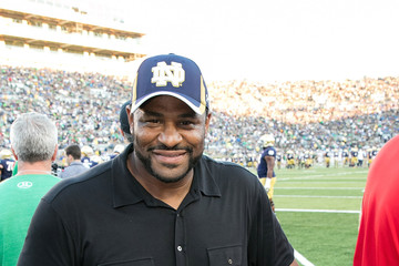 Jerome Bettis Ryder Cup Trophy Visits Michigan State v Notre Dame Football