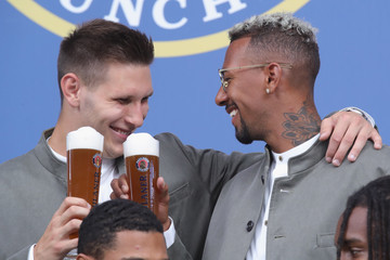 Jerome Boateng FC Bayern Muenchen And Paulaner Photo Session