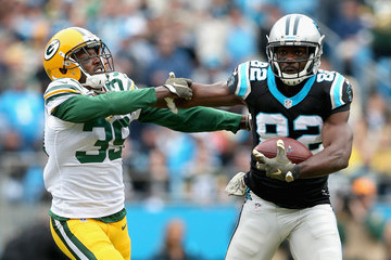 Jerricho Cotchery Green Bay Packers v Carolina Panthers