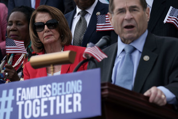Jerrold Nadler House Democratic Leader Pelosi And House Dems Hold News Conference On 'The Keep Families Together Act'