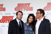 (L-R) Actors Christian Ulmen, Monica Cruz  and Christian Tramitz attend the German premiere of 'Jerry Cotton' on February 28, 2010 in Munich, Germany.