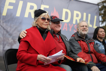 Jerry Greenfield Ben And Jerry's Co-Founders Join Jane Fonda In Climate Protest On Capitol Hill