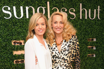 Jerry Hall Georgia May Jagger Celebs Celebrate Mother's Day at the Sunglass Hut