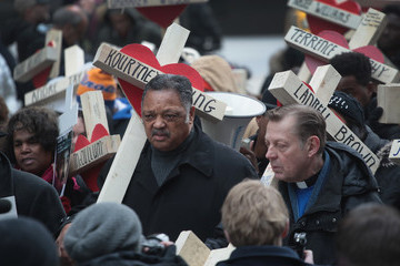 Jesse Jackson Residents And Activists Hold Anti-Violence March After Deadly Year In Chicago