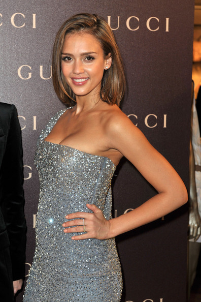 Jessica Alba Jessica Alba attends the Gucci In-Store Cocktail as part of