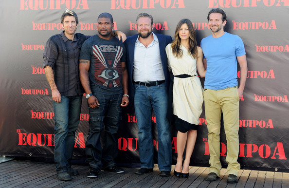 'The A-Team' Madrid Photocall [the a-team,madrid photocall,social group,event,premiere,performance,team,tourism,joe carnahan,r,jessica biel,sharlto copley,quinton rampage jackson,bradley cooper,photocall,me hotel]