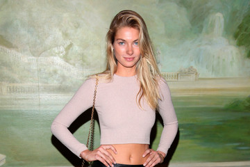 Jessica Hart alice + olivia by Stacey Bendet Spring 2015 NYFW Presentation - Arrivals And Backstage