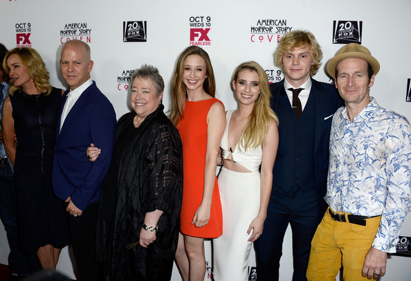 """Premiere Of FX's """"American Horror Story: Coven"""" - Arrivals [american horror story: coven,event,premiere,fashion,carpet,arrivals,jessica lange,ryan murphy,actors,creator,writer,fx,executive producer,premiere]"""