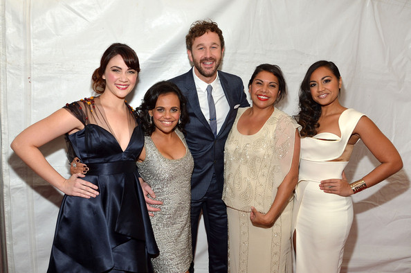 Red Carpet Arrivals at 'The Sapphires' Screening [the sapphires,facial expression,formal wear,event,dress,fashion,lady,gown,fun,suit,smile,screening - arrivals,actors,chris o dowd,miranda tapsell,shari sebbens,deborah mailman,l-r,new york,screening]
