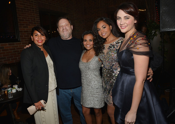 'The Sapphires' Screening in NYC [the sapphires,event,lady,fashion,friendship,fun,dress,little black dress,formal wear,iris,party,miranda tapsell,jessica mauboy,deborah mailman,harvey weinstein,shari sebbens,l-r,party,new york screening,screening]