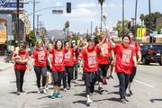 Jessica Sanchez, (C) Starkey Hearing Foundation Ambassador and Unified Relay Across America Team members participate in Unified Relay Across America on July 10, 2015 in Los Angeles, California.