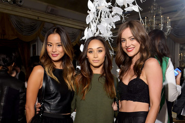 Jessica Stroup alice + olivia by Stacey Bendet Spring 2015 NYFW Presentation