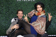 Matthew Morrison and Renee Morrison attend the Jetblack Summer Shopping Cocktail Night event on May 14, 2019 in New York City.