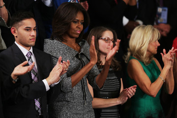 Jill Biden Barack Obama Delivers State of the Union Address