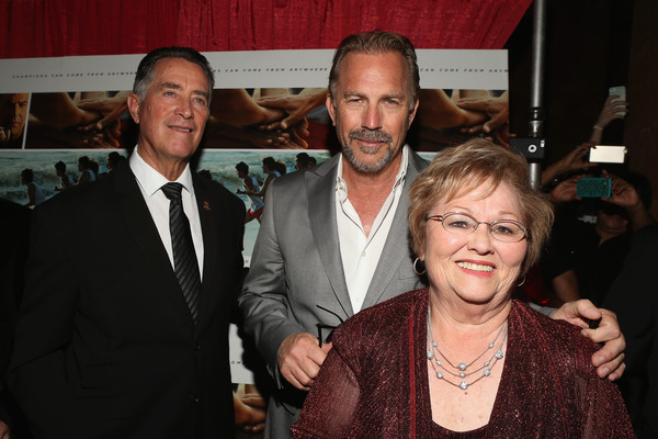 Jim white l r coach jim white actor kevin costner and cheryl white