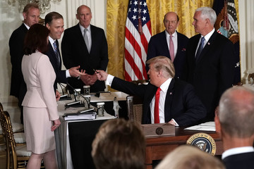 Jim Bridenstine President Trump Meets With National Space Council At White House