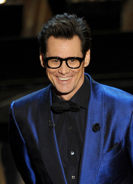 Jim Carrey Actor Jim Carrey speaks onstage during the Oscars at the ...