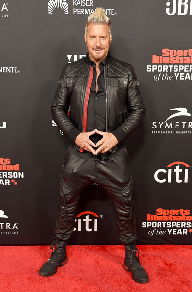 Sports Illustrated Sportsperson Of The Year Awards - Arrivals [leather,carpet,jacket,footwear,muscle,premiere,fictional character,flooring,leather jacket,arrivals,jim jordan,sports illustrated sportsperson of the year awards,beverly hills,california,the beverly hilton hotel]