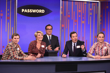 Jim Parsons Emma Thompson Visits 'The Tonight Show'