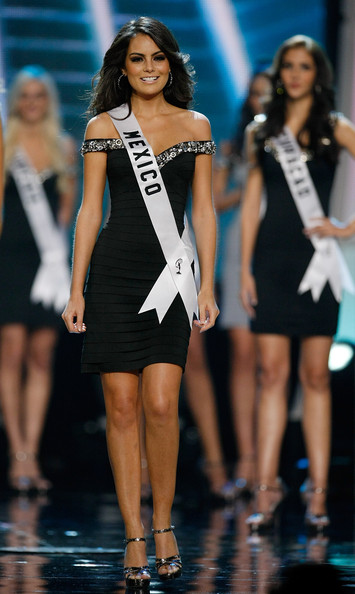 Jimena Navarrete Miss Mexico 2010, Jimena Navarrete, appears after being named one of the 15 finalists during the 2010 Miss Universe Pageant at the Mandalay Bay Events Center August 23, 2010 in Las Vegas, Nevada. Navarrete went on to be crowned the new Miss Universe.