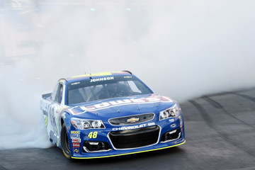 Jimmie Johnson NASCAR Victory Lap Fueled by Sunoco