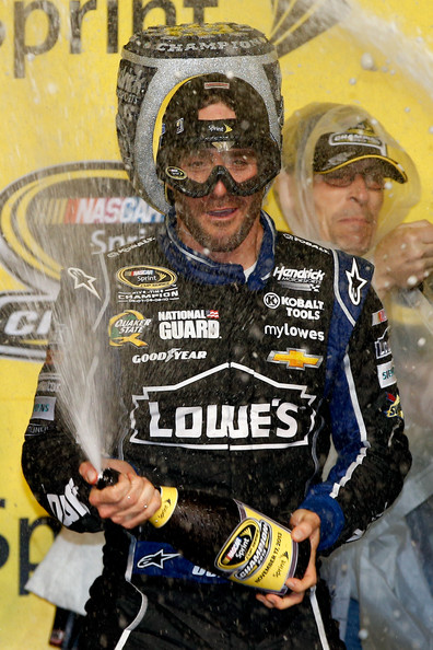 Jimmie's Got His Championship Goggles On