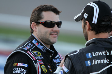 Jimmie Johnson Tony Stewart Las Vegas Motor Speedway - Day 1