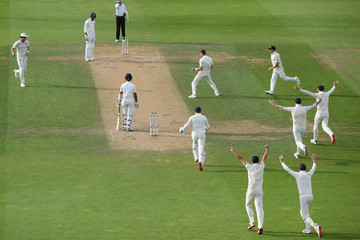 Jimmy Anderson England v India: Specsavers 5th Test - Day Four