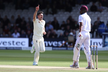 Jimmy Anderson England v West Indies - 3rd Investec Test: Day Three