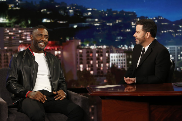 "ABC's ""Jimmy Kimmel Live"" - Season 15 [jimmy kimmel live,season,suit,event,white-collar worker,city,businessperson,formal wear,performance,conversation,jimmy kimmel,guests,idris elba,carlos correa,comedians,lineup,abc,weeknight]"